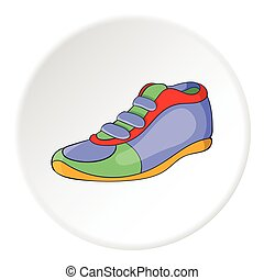 Athletic shoe icon. artoon illustration of athletic shoe vector icon for web
