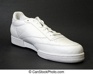 Athletic Shoe - close up of white athletic shoe