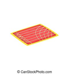 Athletic stadium, running track, sports ground vector Illustration on a white background