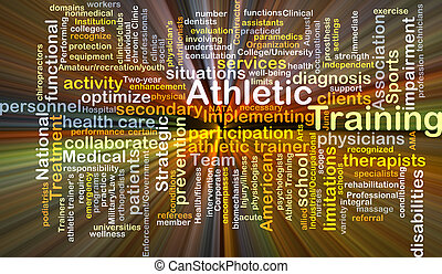 Athletic training background concept glowing - Background...