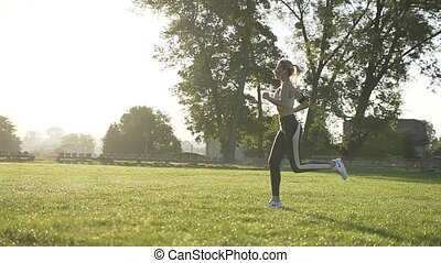 Athletic Woman Working Out
