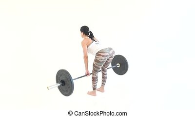Woman Doing Squat Stand
