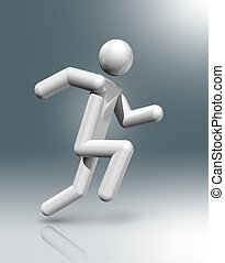 Athletics 3D symbol, Olympic sports