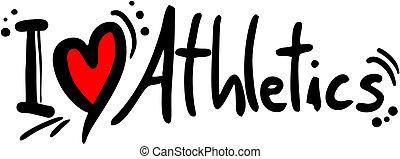 Athletics love - Creative design fo athletics love
