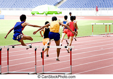 Athletics - Malaysian School Athletic Meet. Image shows ...