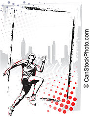 athletics poster  - illustration of runner