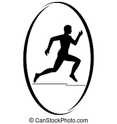 Athletics. Running - Summer kinds of sports. Illustration on...