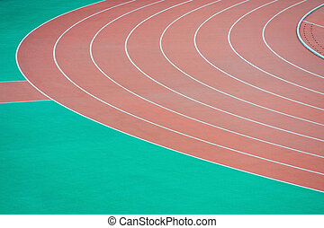 Athletics running track