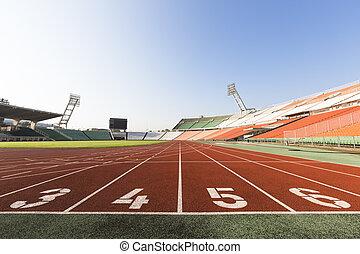 athletics track - one dissolves stadium the orbit of ...