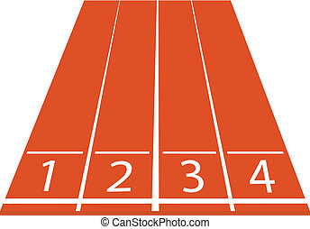 athletics track vector illustration