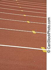 Athletics tracks in the Bird's Nest Stadium in Beijing - A...