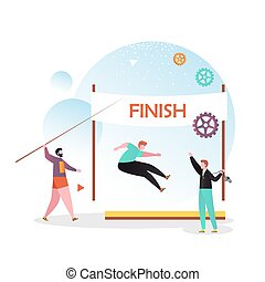 Athletics vector concept for web banner, website page