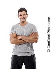 athletische, junger mann