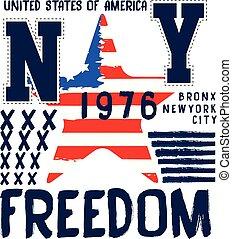 athletische, logo, amerikanische , typographie