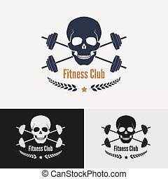 athletische, logo, turnhalle, concept.