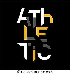 athletische, -, typographie