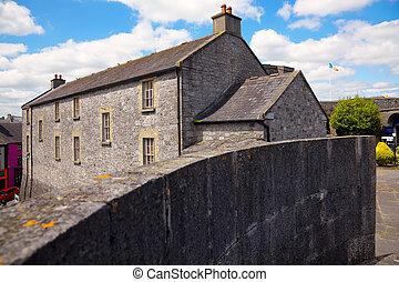 Athlone castle in summer, Co. Westmeath, Ireland.