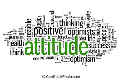 atitude, conceito, tag, nuvem
