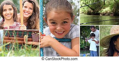 atividades, com, crianças