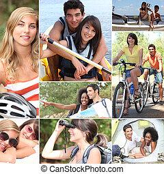 atividades, verão, ao ar livre