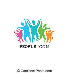 ativo, pessoas, ícone