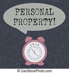 ativos, posses, pessoal, texto, mostrando, sinal confidencial, conceitual, indivíduo, foto, pertences, property., owner.