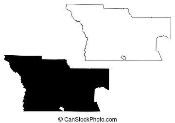 Atkinson County, Georgia (U.S. county, United States of America, USA, U.S., US) map vector illustration, scribble sketch Atkinson map