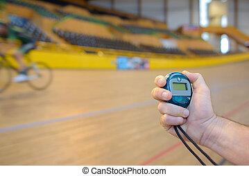 atléta, bicikli, velodrome