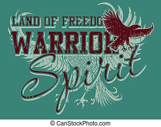 atlético, águia, vetorial, arte, espírito