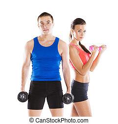 atlético, mulher, homem