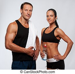 atlétikai, bábu woman, után, alkalmasság gyakorlás