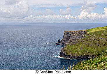 atlant- ocean, och, moher klippor