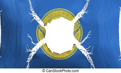 Atlanta capital city flag with a hole