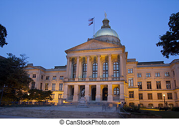 Atlanta Capital - The Georgia State Capitol Building in...