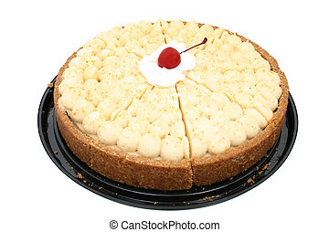 Atlanta Cheesecake - Atlanta cheesecake with cherry in...