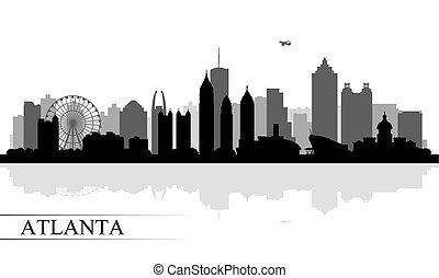 Atlanta city skyline silhouette background, vector...