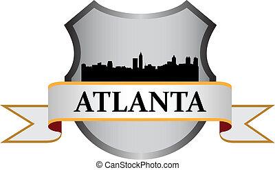 Atlanta crest with high-rise buildings skyline