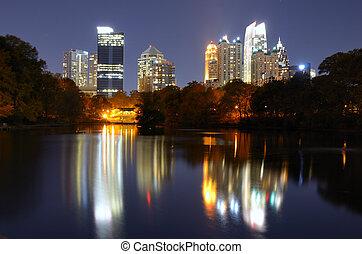 Atlanta From Piedmont Park
