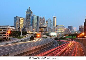 Atlanta, Georgia, May 10, 2011. The skyline of Atlanta...