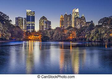 Atlanta, Georgia Piedmont Park Skyline