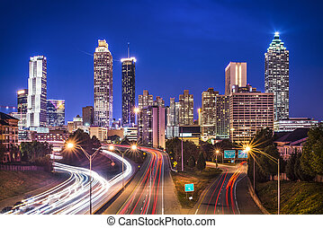 Atlanta, Georgia Skyline - Atlanta, Georgia, USA skyline...