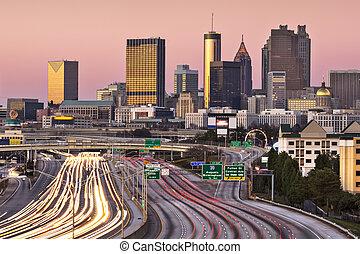 Atlanta, Georgia Skyline - Atlanta, Georgia, USA twilight...