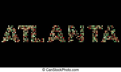 Atlanta led text