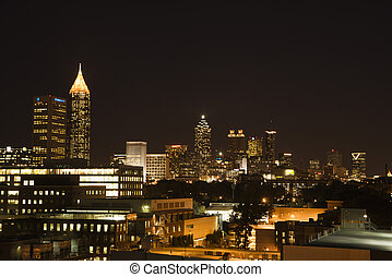 Atlanta night skyline.