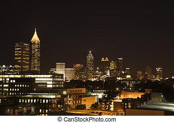 Atlanta night skyline. - Nightscape of Atlanta, Georgia...