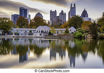 Atlanta Park Skyline - Atlanta, Georgia, USA autumn skyline...