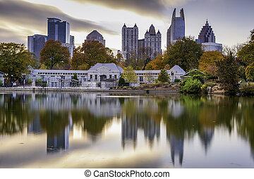 Atlanta Park Skyline
