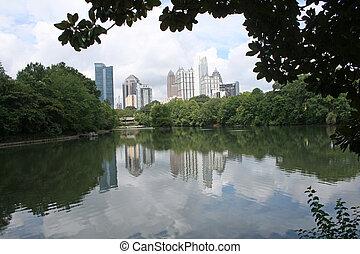 Atlanta Skyline From Piedmont Park