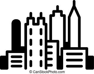 Atlanta Skyline Icon - Simple icon illustration of the...