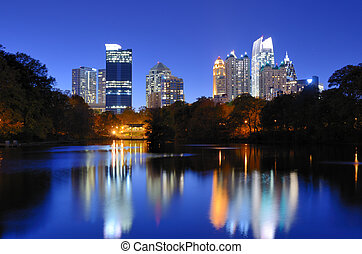 Atlanta Skyline - The Downtown Atlanta, Georgia Skyline from...